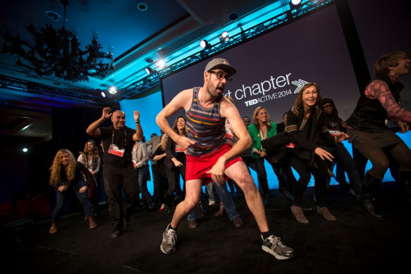 A dance break at TEDActive 2014, also held at Whistler. Photo: Marla Aufmuth